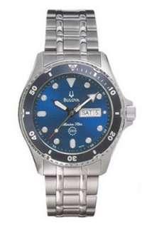 New Bulova Marine Star Mens Quartz Date SS 98C62 Watch