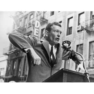 John Lindsay speaking at a senior citizens [rally?] John V. Lindsay