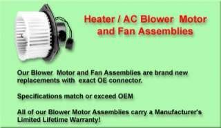 HONDA ODYSSEY HEATER/AC BLOWER FAN & MOTOR 2003 2004