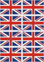 8X BRITISH FLAGS VINYL STICKER DECAL UNION JACK BRITAIN