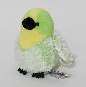 Ganz Webkinz Lil Kinz BUDGIE Green Yellow Bird No Code Plush Toy