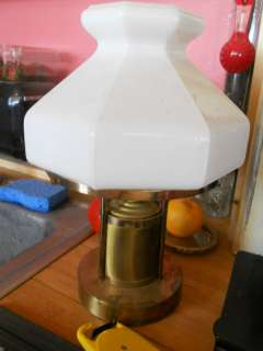 vintage brass oil lamp,white milkglass/milk glass shade