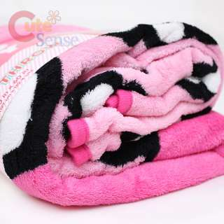 Sanrio Hello Kitty Plush Blanket Pink Flower 2