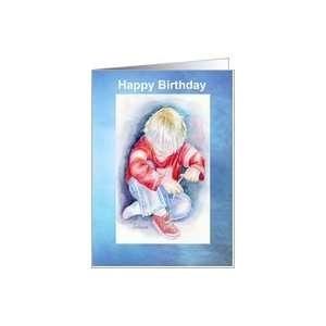 Happy Birthday Special Guy, Boy Ties Shoe Card Health