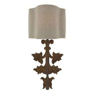 French Country Gold Leaf Stenciled Number Wall Sconces
