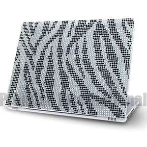 Zebra Notebook Laptop Cover Bling Rhinestone Crystal Sticker Skin 12