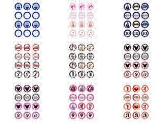 12 2 Cupcake Toppers Gift Tag Images Digital Template Sheet Printable