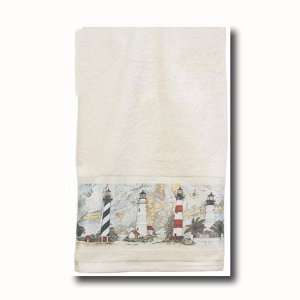 Nautical Harbour Lighthouse Beach Bath Hand Towel Home