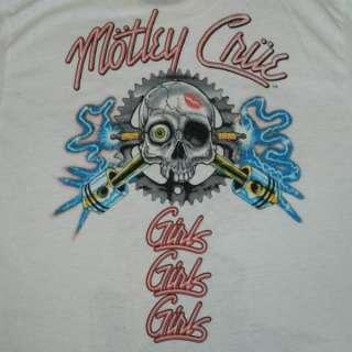 UBER RARE VTG MOTLEY CRUE 1987 ALLISTER FIEND T SHIRT MOTORCYCLE TOUR