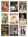 Vintage Metal Advertising Signs Collage Sheets A157
