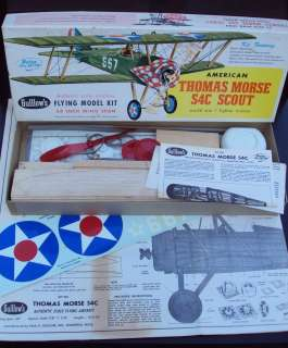 AMERICAN THOMAS MORSE S4C SCOUT WOOD FLYING MODEL KIT No. 201