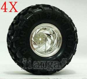 4x RC 1/10 Monster Bigfoot Car Truck Wheel,Tyre, TIRE I6y7u