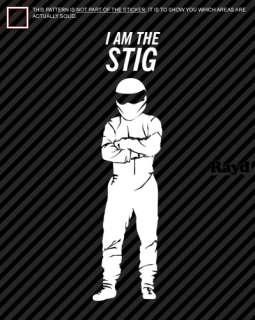 am the STIG Sticker Decal Die Cut top gear (23 Tall)