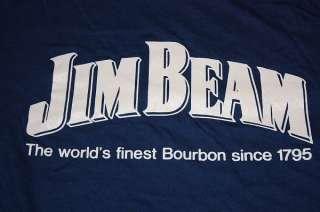 vtg 80s JIM BEAM whiskey liquor shirt *soft thin