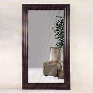 Bassett Mirror Cherry Wood Rectangular Bevel Wall Mirror Decor