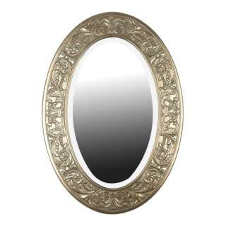 Kenroy Home Argento Oval Wall Mirror in Antique Silver Decor