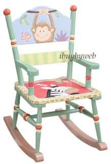 Kids Sunny Safari Rocking Chair Jungle Monkey Zebra NEW