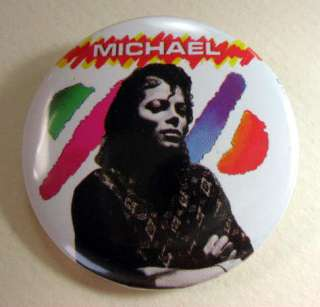 MICHAEL JACKSON 1980s Pinback Buttons Pins Badges 5 Different