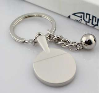 Cute Designed 3D Sports Table Tennis Ping Pong Ball Key Ring Key Chain