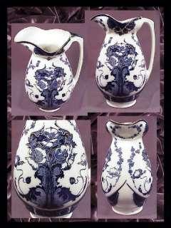 Minton  Flo Blue  Pitcher & Bowl Set c.1870s