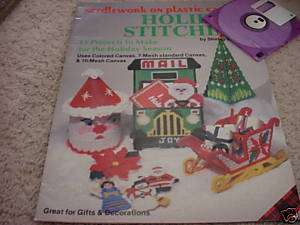 Plastic Canvas Holiday Stitching Christmas craft book