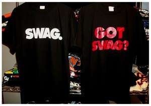 SWAG T Shirt Lil Wayne Rap Hip Hop Black white Red Urban Clothing 2pac