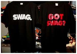 SWAG T Shirt Lil Wayne Rap Hip Hop Black white Red Urban Clothing 2pac