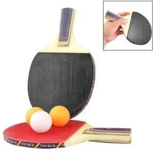 Pingpong Racket Table Tennis Paddle Bat w 3 Balls