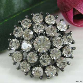 Sparkling Crystal Rhinestone Round Buttons #S368
