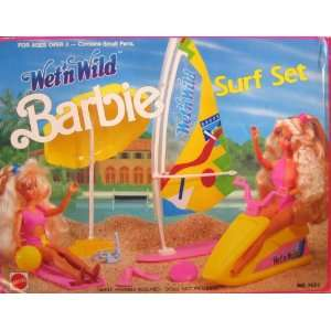 1989 Barbie Doll Wet N Wild Surf Set Play Set: Toys & Games