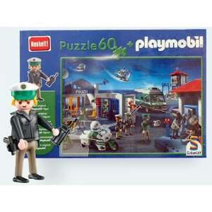 Playmobil Police Station 60 Piece Jigsaw Puzzle with