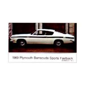 1969 PLYMOUTH BARRACUDA Fastback Formula S Post Card