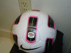 Nike Serie A T90 Tracer LC Soccer Ball (White/ Pink/ Black Size 5