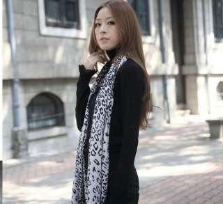Imitation Cashmere Women Leopard scarf scarves shawl wrap with tassels