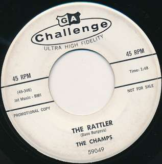CHAMPS Rattler (surf instrumental) 45 rpm PROMO Hear It