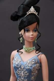 J177 BN Green Rhinestone Jewelry Set for Barbie FR