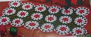 Colorful CHRISTMAS TABLE RUNNER Crochet Pattern*holiday
