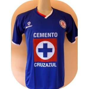 CRUZ AZUL MEXICO HOME SOCCER JERSEY SIZE SMALL.NEW: Sports