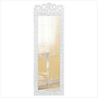 ELEGANT WHITE WALL MIRROR Wood Frame Shabby Decor NEW