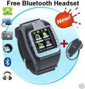 New Unlocked Cell Phone Wrist Watch Mobile with Touchscreen Camera