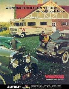 1974 Winnebago Chieftain Dodge Motorhome RV Brochure