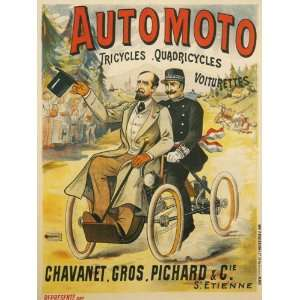 Bicycle Bike Cycles Motorcycle Automoto Tricycles French France 18 X